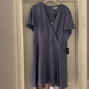 express satin wrap dress